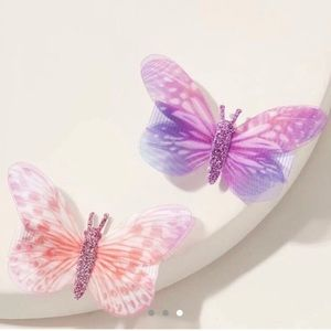 Butterfly clips🦋💜